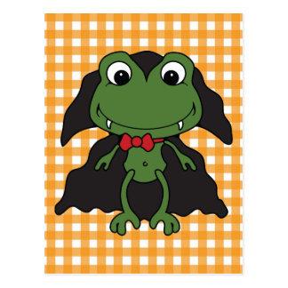 Carte Postale Grenouille Dracula de Halloween