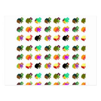 Carte Postale Grenouilles d'arc-en-ciel