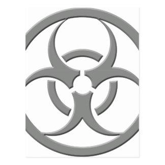Carte Postale Gris de Biohazard