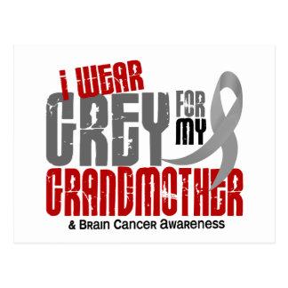 Carte Postale Gris d'usage du cancer du cerveau I pour ma