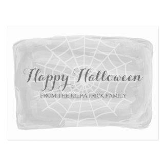 Carte postale grise de Halloween de toile