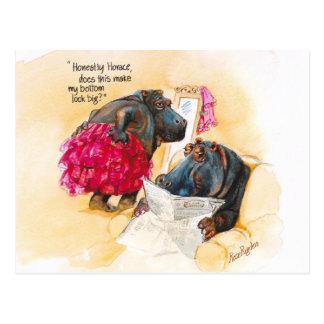 Carte Postale Gros hippopotame