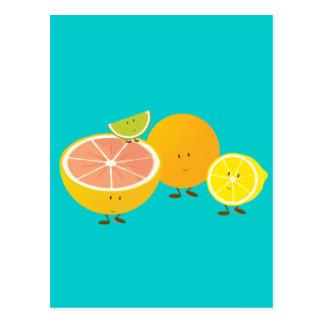 Carte Postale Groupe de sourire d'agrume