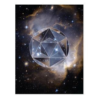 Carte Postale Groupe d'étoile géométrique