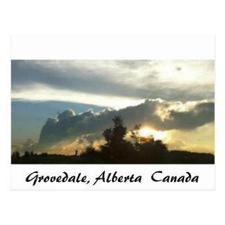 Carte Postale Grovedale, Alberta
