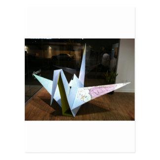 Carte Postale grue d'origami