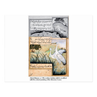 Carte Postale Grue par Ustad Mansur
