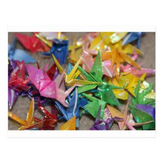 Carte Postale grues d'origami
