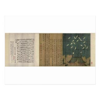 Carte Postale Grues propices par l'empereur Huizong