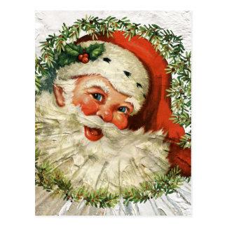 Carte Postale Grunge vintage de Père Noël