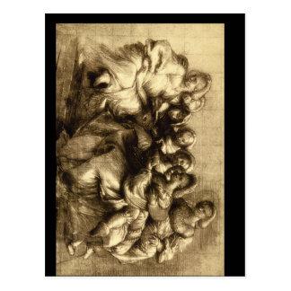 Carte Postale Gruppo di Donne', Giorgione_Studies des maîtres