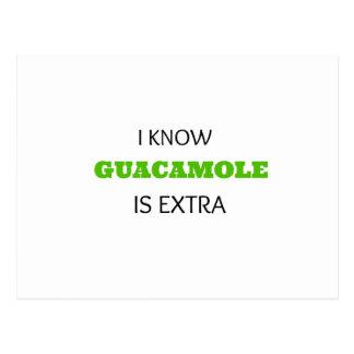 Carte Postale Guacamole drôle SUPPLÉMENTAIRE