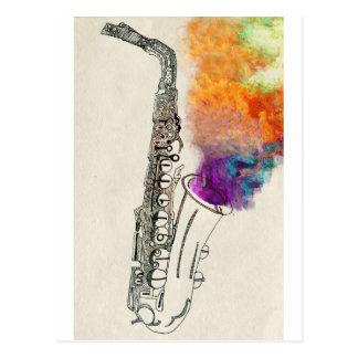 Carte Postale Guérison de saxophone