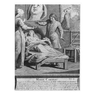 Carte Postale Guérison miraculeuse d'une femme aveugle