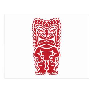 Carte Postale guerrier de totem de tiki