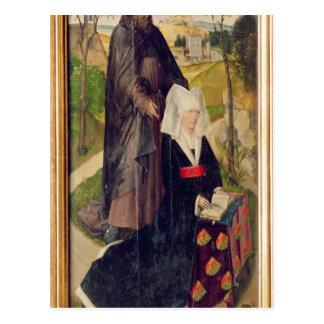 Carte Postale Guillemette de Montagu avec le saint Guillaume