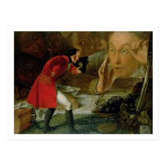 Carte Postale Gulliver a exhibé à l'agriculteur de Brobdingnag