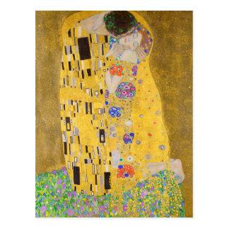 Carte Postale Gustav reconstitué Klimt l'art Nouveau de baiser
