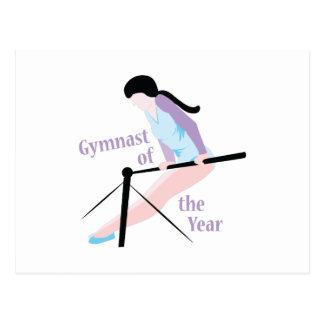 Carte Postale Gymnaste d'année