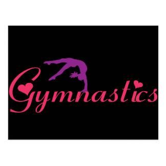 Carte Postale Gymnastique avec des coeurs