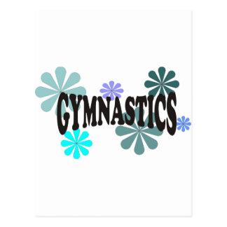 Carte Postale Gymnastique avec les fleurs bleues