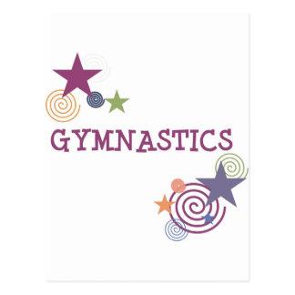 Carte Postale Gymnastique avec l'étoile tourbillonnante