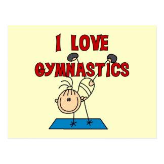Carte Postale Gymnastique d'amour de la fille I