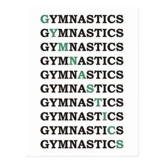 Carte Postale Gymnastique diagonale