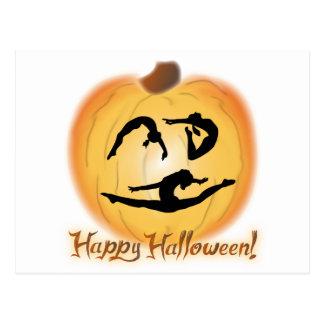 Carte Postale Gymnastique heureuse de Halloween