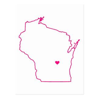 Carte Postale Habillement du Wisconsin