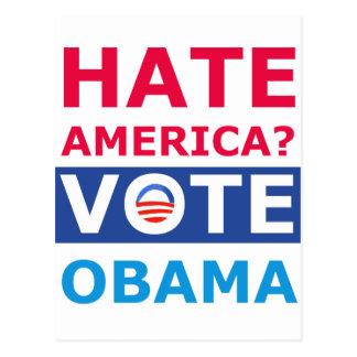 Carte Postale Haine Amérique ? Vote Obama (anti Obama)