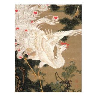 Carte Postale Hakuhō-zu de Rōsyō par Ito Jakuchu