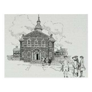 Carte Postale Hall Philadelphie du charpentier
