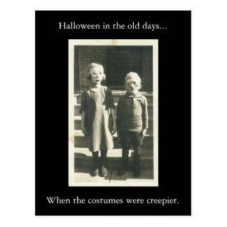 Carte Postale Halloween auparavant…