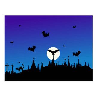 Carte Postale Halloween-cimetière