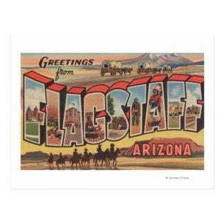 Carte Postale Hampe de drapeaux, Arizona - grandes scènes de