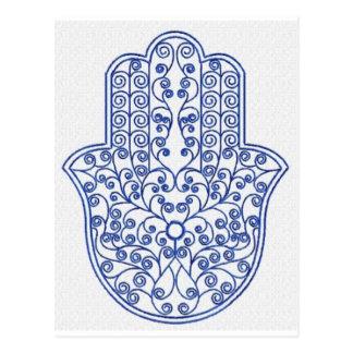 Carte Postale hamsa*tunis*morocco*henna*blue