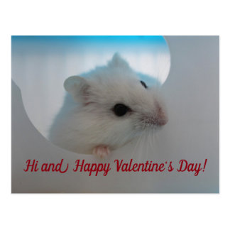 Carte Postale Hamster de heureuse Sainte-Valentin