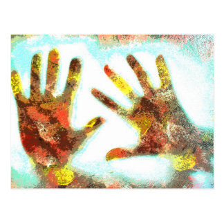 Carte Postale Handprints