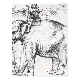 Carte Postale Hanno, papes Lion X Elephant par Raphael
