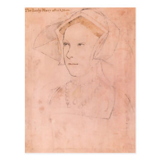 Carte Postale Hans Holbein Queen Mary plus jeune I Tudor