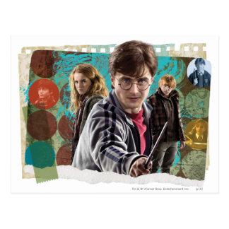 Carte Postale Harry, Hermione, et Ron 1