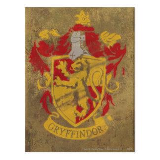 Carte Postale Harry Potter | Gryffindor - rétro crête de Chambre