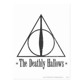 Carte Postale Harry Potter   le de mort sanctifie l'emblème