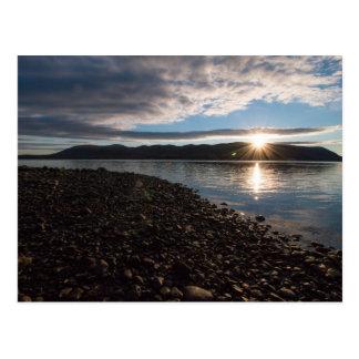 Carte Postale Hausse de Sun au-dessus du Hudson