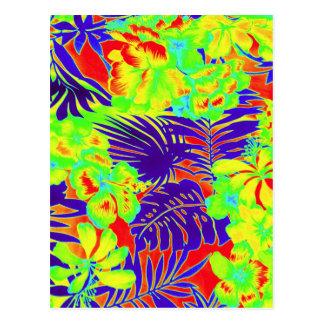Carte Postale Hawaï au néon