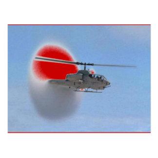 Carte Postale hélicoptère de cobra