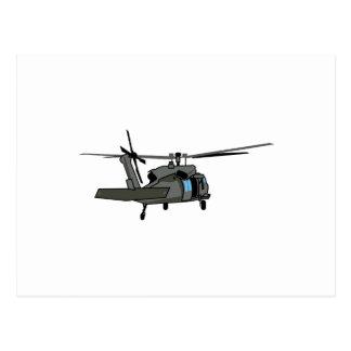 Carte Postale Hélicoptère noir de faucon