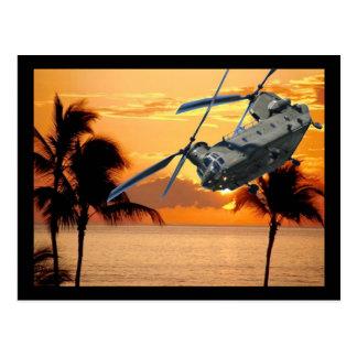 Carte Postale Hélicoptère tropical