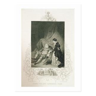 Carte Postale Henry VIII et Catherine Parr, dans le jeu Henry V